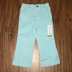 NWT! Jumping beans blue tint pants for girls